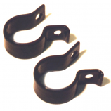 Plastic Coated P Clips for Fastening Pannier Racks to Stays & Forks