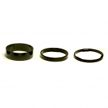 Black 1 1/8 (28.6mm) Alloy Aheadset 3, 5 or 10mm Spacers