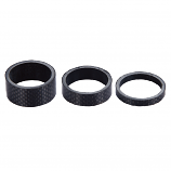 Black 1 1/8 (28.6mm) Carbon Aheadset 3, 5 or 10mm Spacers