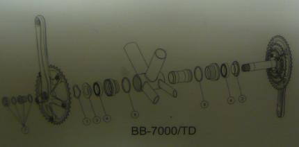 FSA Mega Exo BB-7000 TD Bottom Bracket Spare Parts