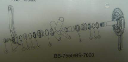 FSA Mega Exo BB-7550 & BB-7000 Bottom Bracket Spare Parts