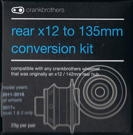 Crank Brothers Wheel End Caps Rear x12 to 135mm Conversion Kit