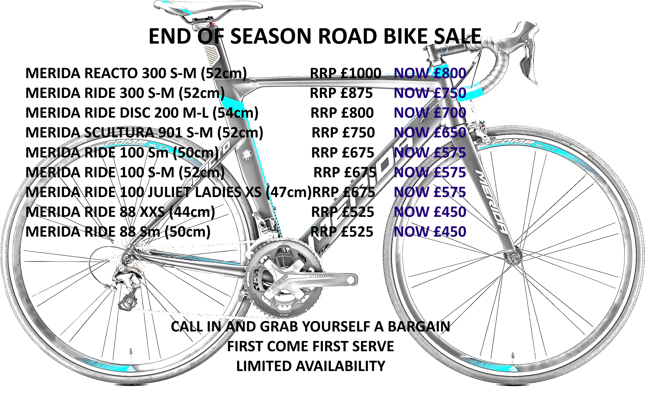 End of season road bike sale