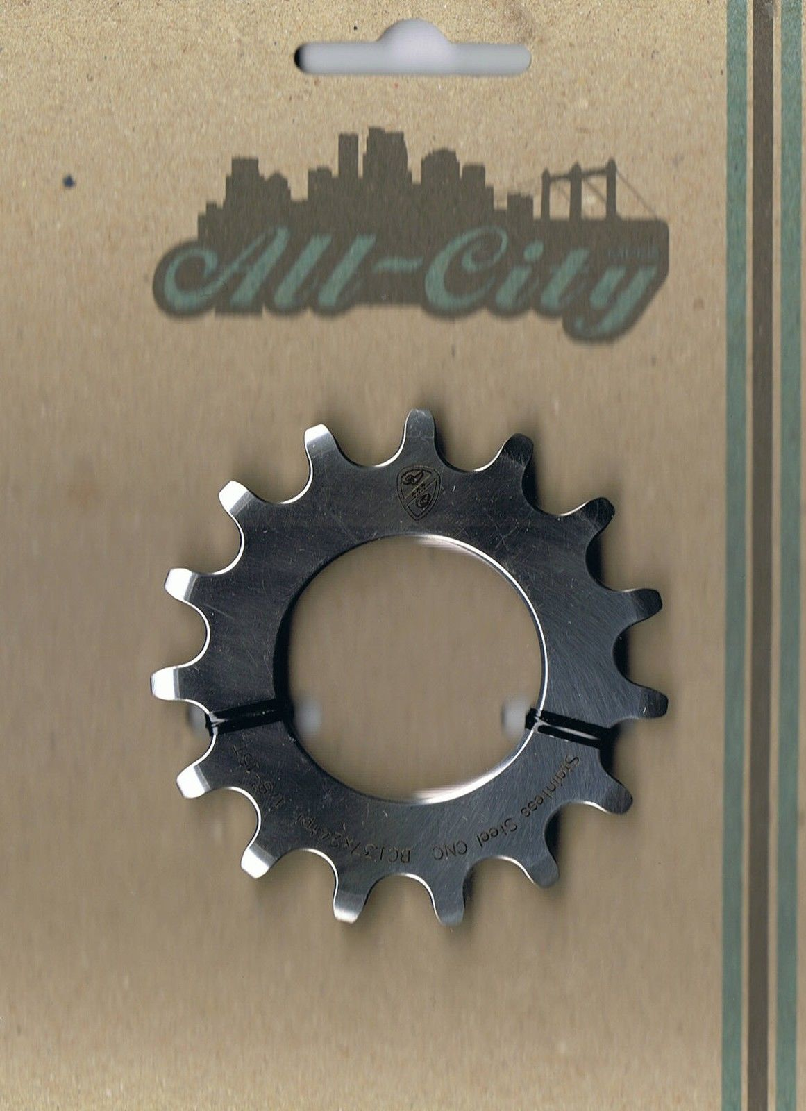 ALL CITY 15t Stainless Steel Fixed Sprocket