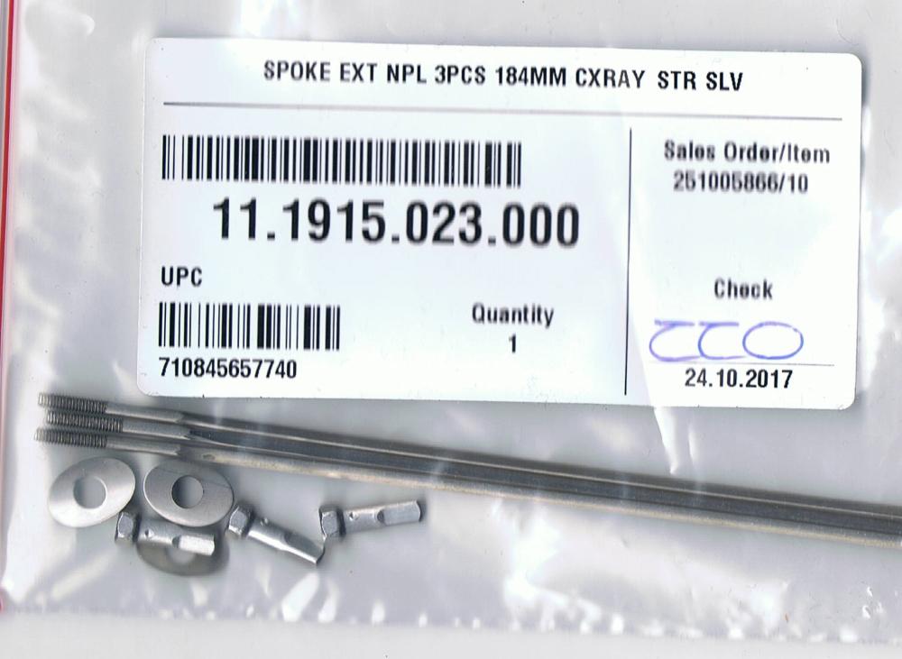 ZIPP Straight Pull Spoke Kit 184mm