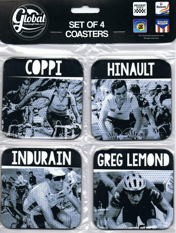 Classic Coasters Coppi Hinault Indurain Lemond