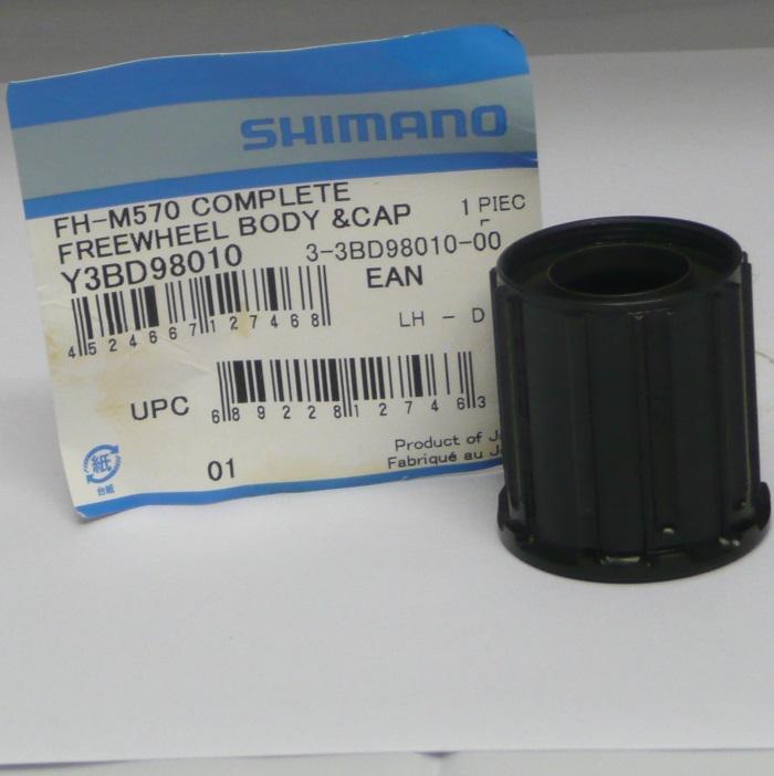 Shimano FH-M570 Deore 9-speed Freehub body Y-3BD 98010