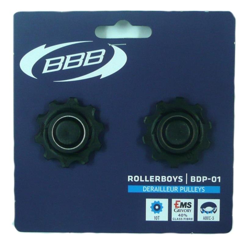 Campagnolo compatible BBB 10t Black Gear Pulley Jockey Wheels