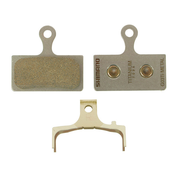 Shimano G03Ti BR-M985 Sintered / Metal Disc Pads with Spring