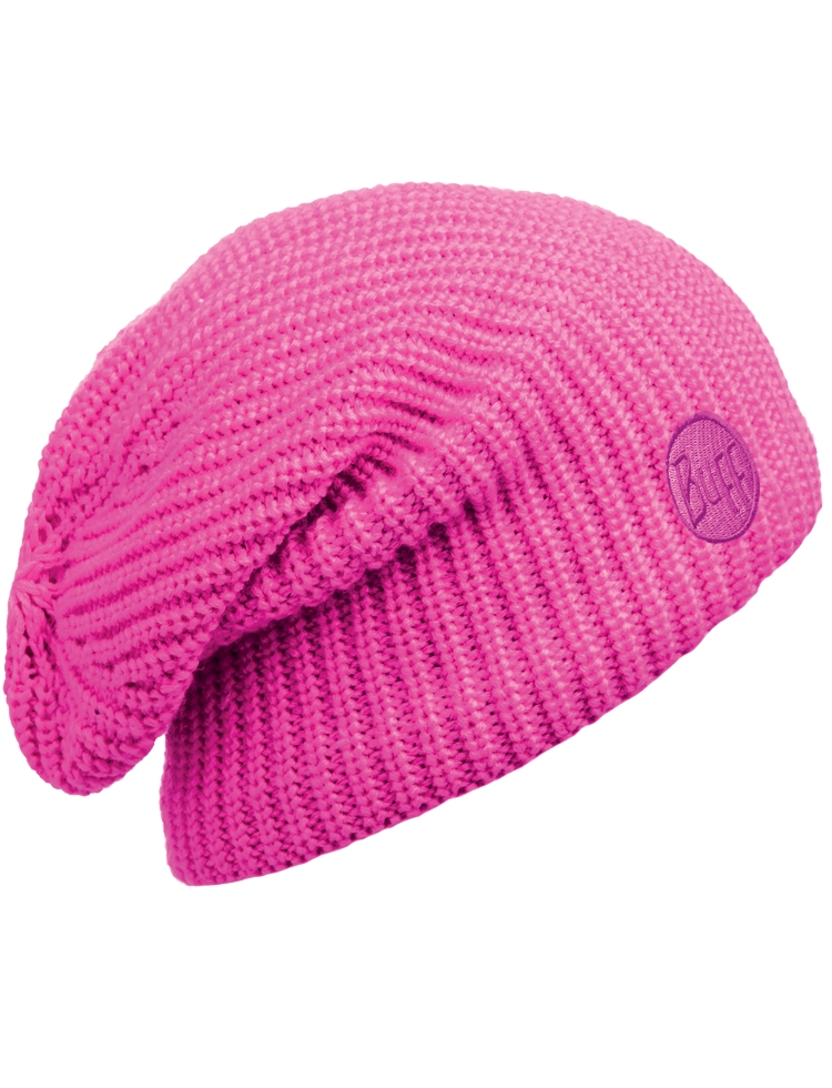 BUFF KNITTED & POLAR HAT DRIP PINK FLUORESCENT WARM