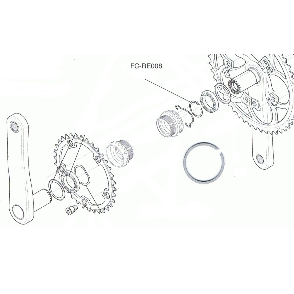 Campagnolo Ultra Torque Chainset Axle Bearing Circlip FC-RE008