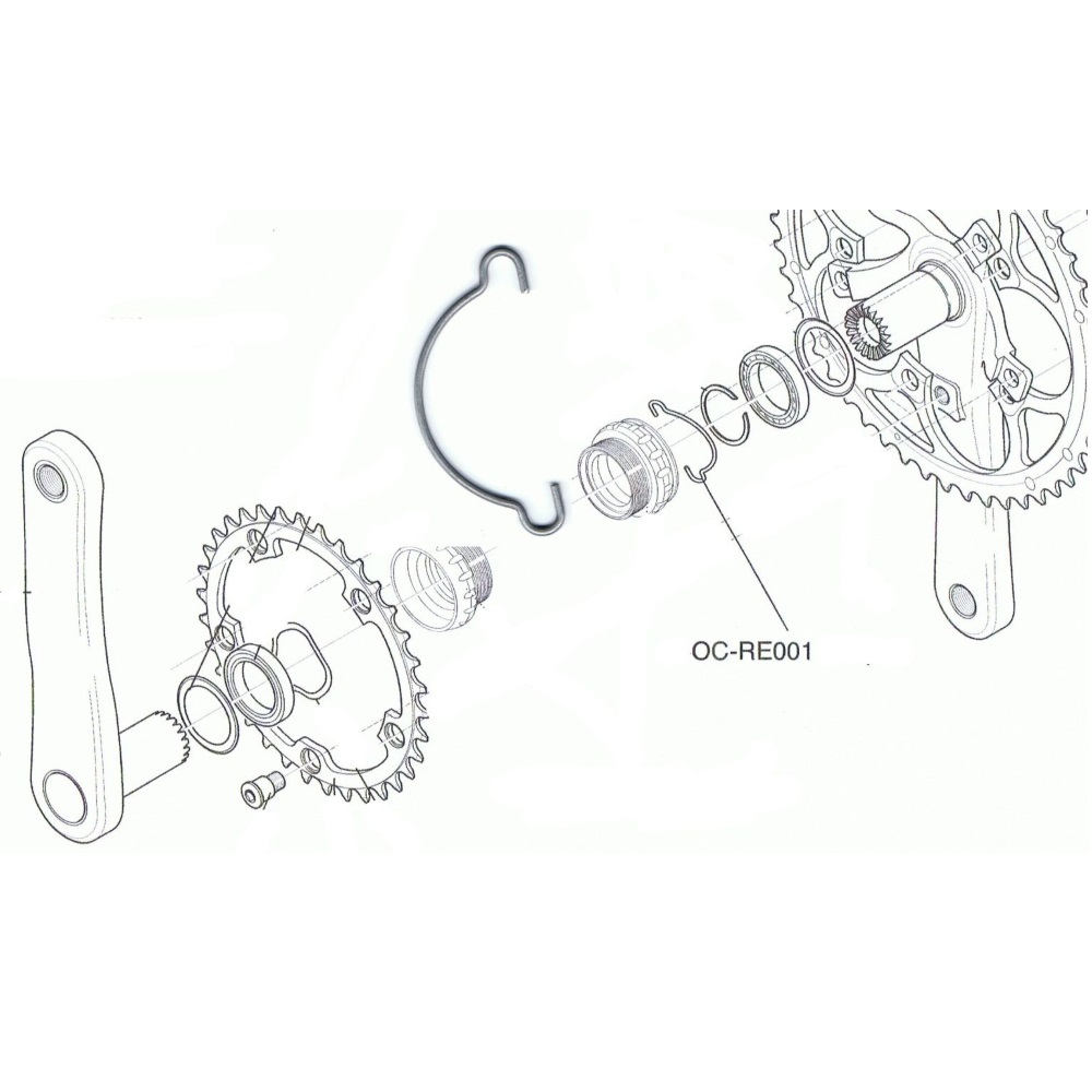 Campagnolo Ultra Torque Chainset Outboard Cup Bearing Circlip OC-RE001