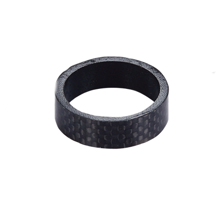 Black 1 inch (25.4mm) Carbon Aheadset 5mm Spacers