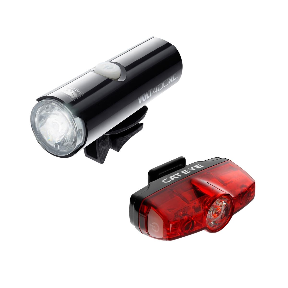 Cateye Volt 400 XC Front and Rapid Mini Rear LED Lightset