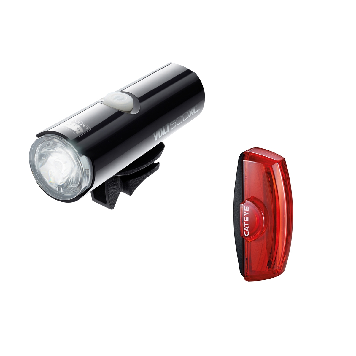 Cateye Volt 500 XC Front and Rapid X2 Rear LED Lightset