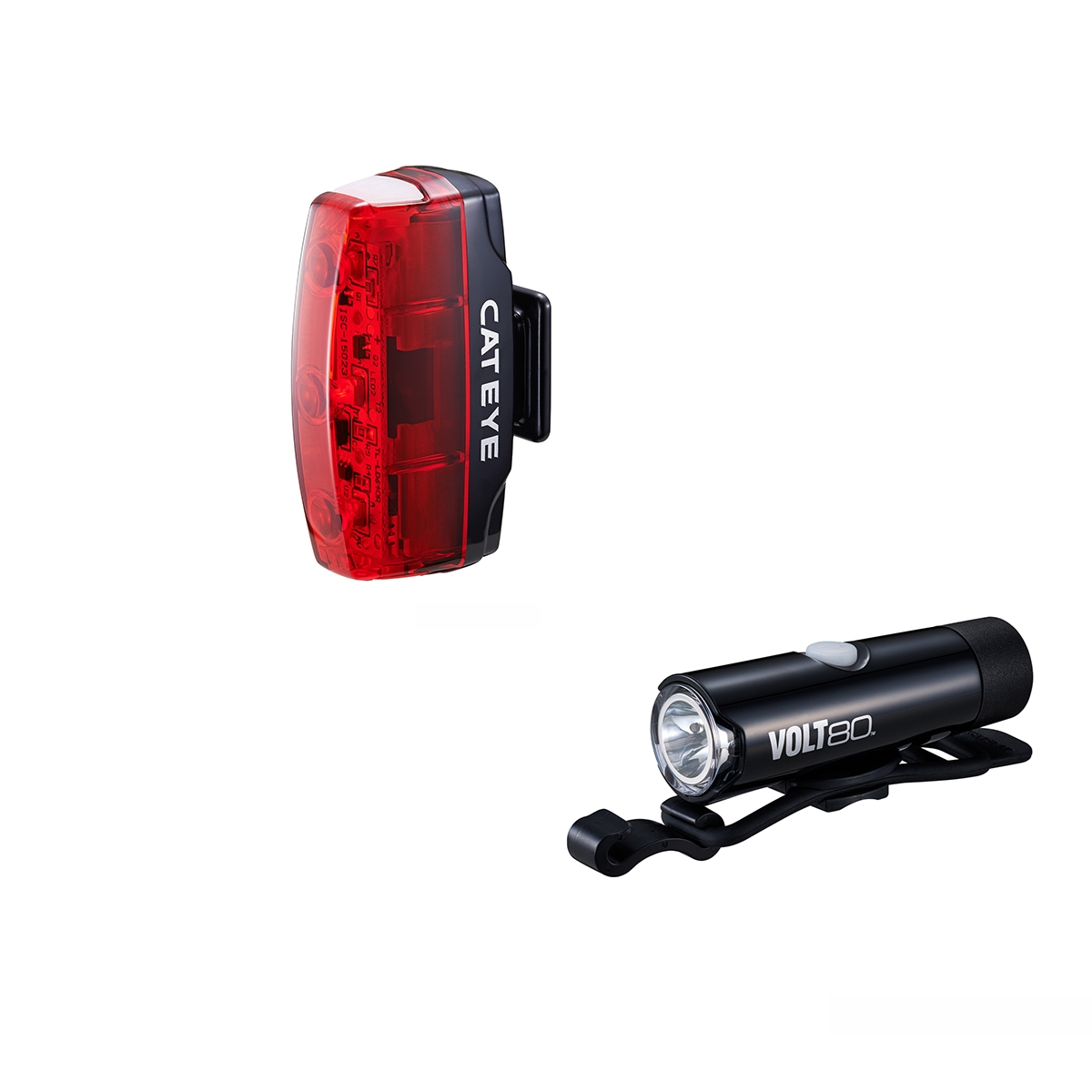 Cateye VOLT 80 XC Front and Rapid Micro Rear LED Lightset