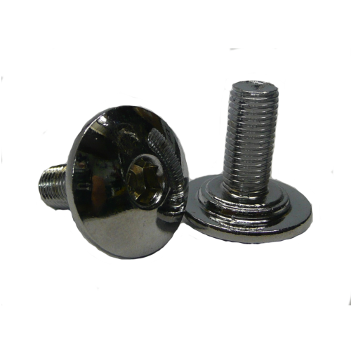 BMX 8 Splined Axle Domed Crank Bolts in Chrome