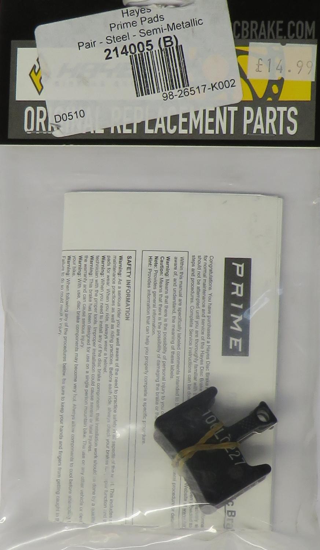 Hayes Prime Semi-Metallic Brake Disc Pads