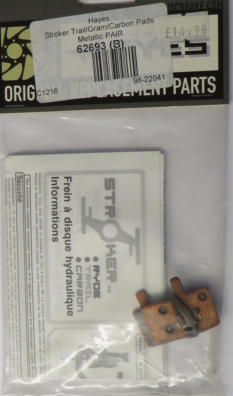 Hayes Stroker Trail Gram & Carbon Semi-Metallic Brake Disc Pads