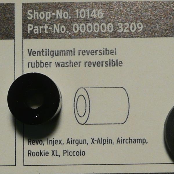 SKS Reversible Rubber Insert for Revo, Injex, Airgun, X-Alpin, Airchamp, Rookie XL & Piccolo Pumps
