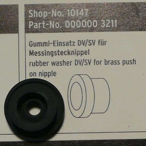 SKS Rubber Insert for Brass Nipple Chuck Floor Pump