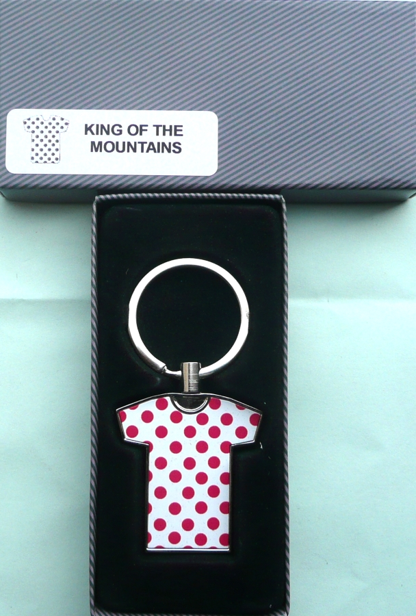 Tour de France King of the Mountains Jersey Key Ring