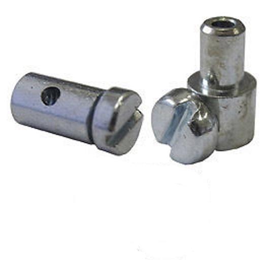 Inner Brake Cable Solderless Nipples. Barrel or Pear Shape