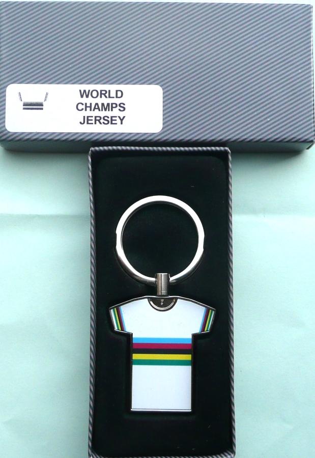 World Champion Rainbow Bands Jersey Key Ring