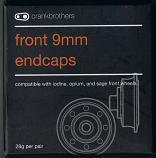 Crank Brothers Wheel End Caps Front 9mm Iodine, Opium & Sage