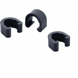 Black Plastic Hydraulic Hose Frame Spring Clip. Horse shoe style