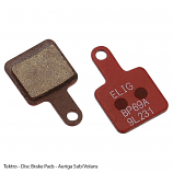 Tektro Auriga Sub, E-sub, Twinn and Volans Resin Disc Brake Pads