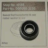 SKS Airboy Pump 16mm Barrel Rubber Washer