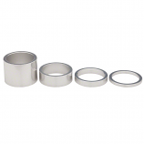 Silver 1 1/8 (28.6mm) Polished Alloy Aheadset 3, 5 or 10mm Spacers