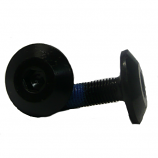 BMX 8 Splined Axle Domed Crank Bolts in Black