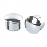 Chromed Plastic Handlebar End Plugs